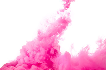 Pink Acrylic Ink in Water. Color Explosion. Paint Texture
