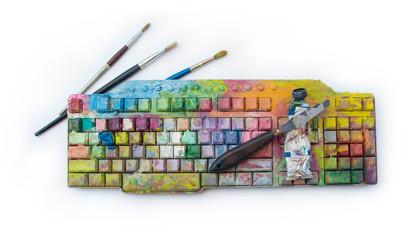 Sztuka cyfrowa i kreatywność oraz malarstwo analogowe