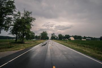 Straßen von Kansas USA