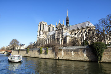Landscape of Paris with Notre Dame