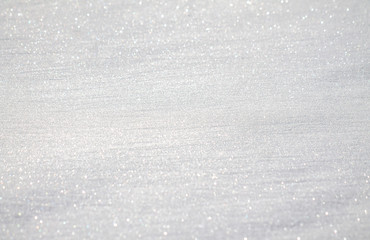 White sparkling snow as background for design