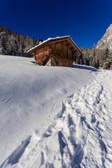 paesaggio invernale a Piereni, in Val Canali, nel parco naturale di Paneveggio - Trentino