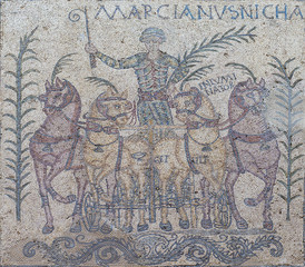 Victory of Quadriga Charioteer named Marcinaus, Merida, Spain