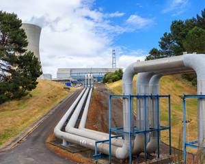 Ohaaki geothermal power station, Waikato, New Zealand
