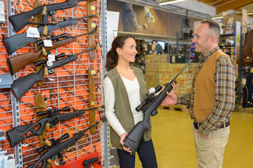 in the rifle shop