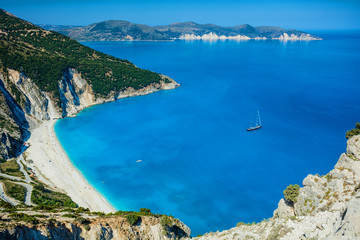 Mirtos beach at Kefalonia island, Greece