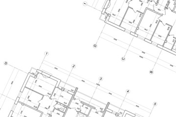 Architectural technical drawing- background