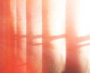 Vertical morning blinds bokeh background