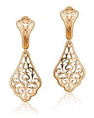 fashion women's earrings in gold.