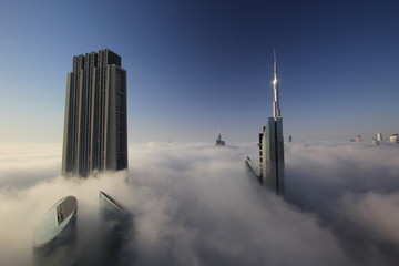 Cloudy morning in Dubai city