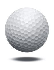 white golf ball isolated on white background background