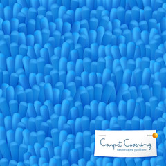 Realistic Shaggy Carpet Seamless Pattern