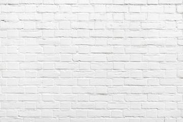 Szczegół biała ściana z cegieł tekstura