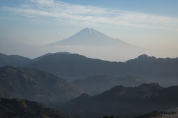 清水吉原より望む富士山