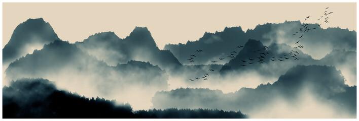 Chiński pismo odręczne i malarstwo wodne