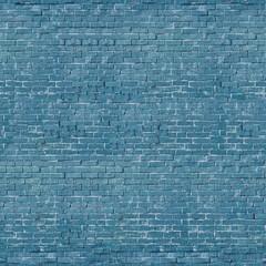 Blue brick wall seamless texture