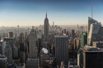 New york skyline seen from above.
