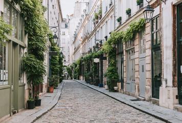 Cozy street in Paris, France