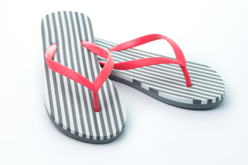 Flip flops isolated on white background