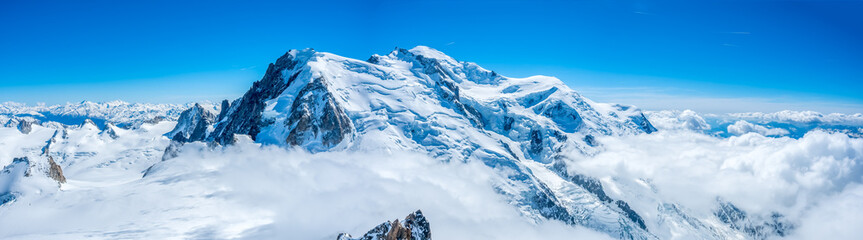 Mont Blanc mountain in France