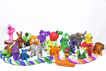 Play Clay World. Figures made from plasticine.