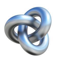 Infinite three dimensional shape, 3d rendering