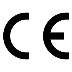 CE sign. Vector illustration of European conformity mark symbol.