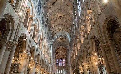 The interior of the Notre Dame de Paris