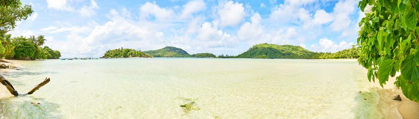 Tropical beach of Anse L'islette (Port launey road) , Mahe Seychelles