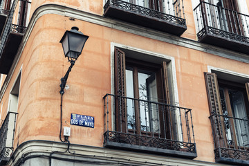 Street scene in Malasaña district in Madrid