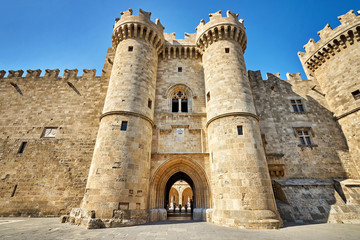 The Knights Grand Master Palace at Rhodes island, Greece