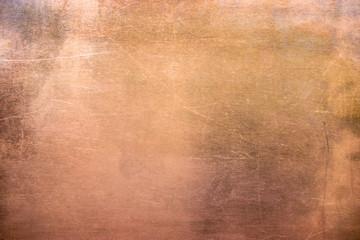 Vintage brązowy lub miedziany talerz, blachy z metali kolorowych jako tło