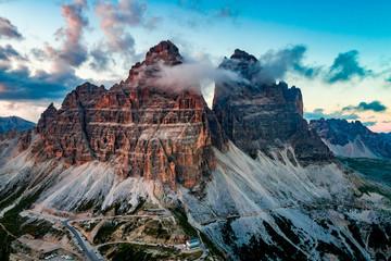 Narodowy Park Przyrody Tre Cime W Alpach Dolomitowych. Piękna przyroda Włoch.