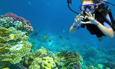 girl diver