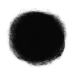 Schwarzer runder Farbfleck