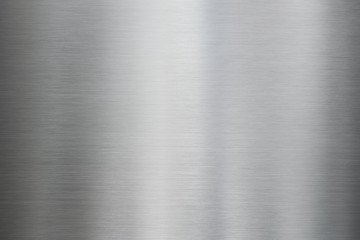 Metalowa stal szczotkowana lub tekstura aluminium