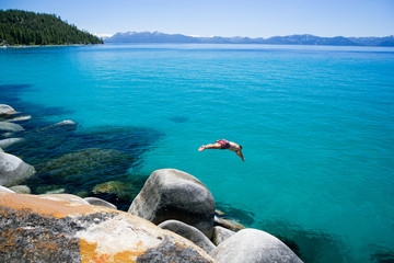 Diving Into Lake Tahoe