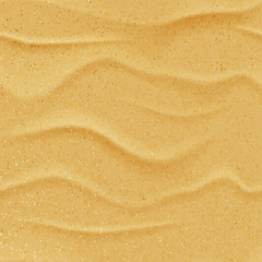 Vector yellow sand beach seamless texture. Abstract summer nature background. Desert dune realistic illustration.