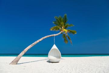 Piękna tropikalna plaża na Malediwach