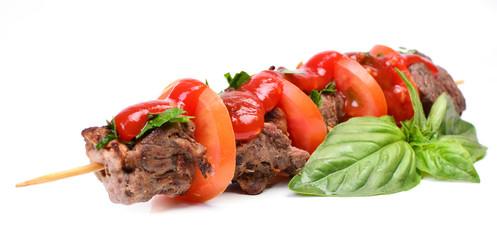 Świeży kebab z baraniny