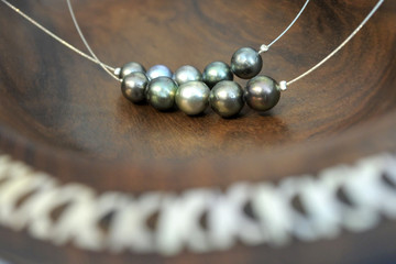 Tahitian Black Pearls necklace Rarotonga Cook Islands