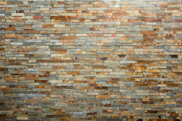 Stone-cut wall made of tiles
