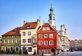 Poznan Old Town at sunrise, Poland.