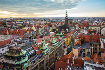 Wroclaw city panorama, Poland