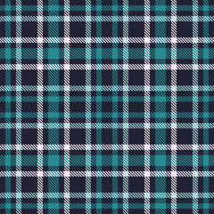 Green Blue tartan seamless vector pattern. Checkered plaid texture. Geometrical square background for fabric