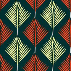 Geometric abstract hand drawn pattern. Vector seamless green wallpaper.