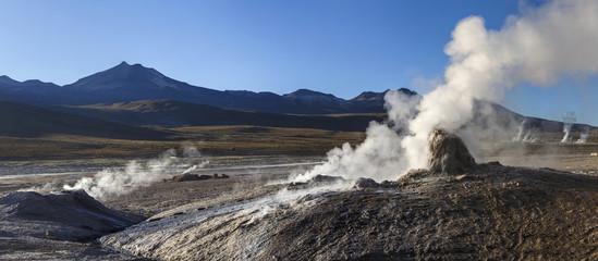 Geysers of Tatio in Atacama, Chile