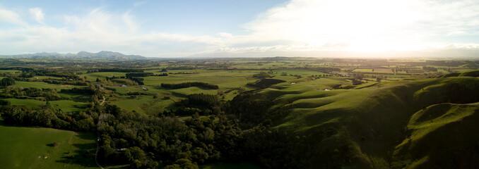 Amazingly Beautiful Martinborough Sunset Aerial Panorama
