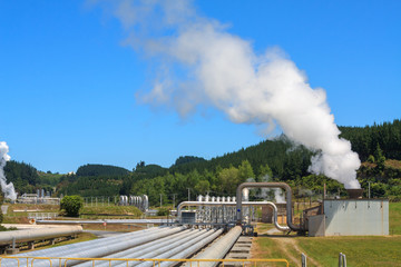 Wairakei geothermal power plant