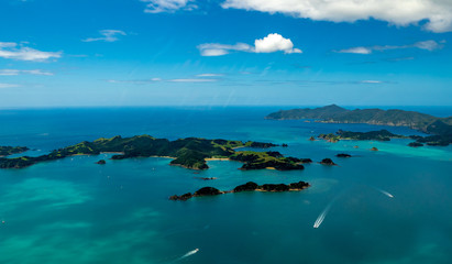 Airbourne over the Bay of Islands